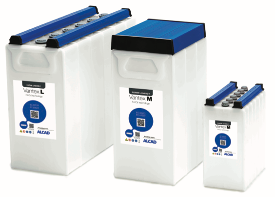 ALCAD Vantex Range Maintenance-free Ni-Cd batteries