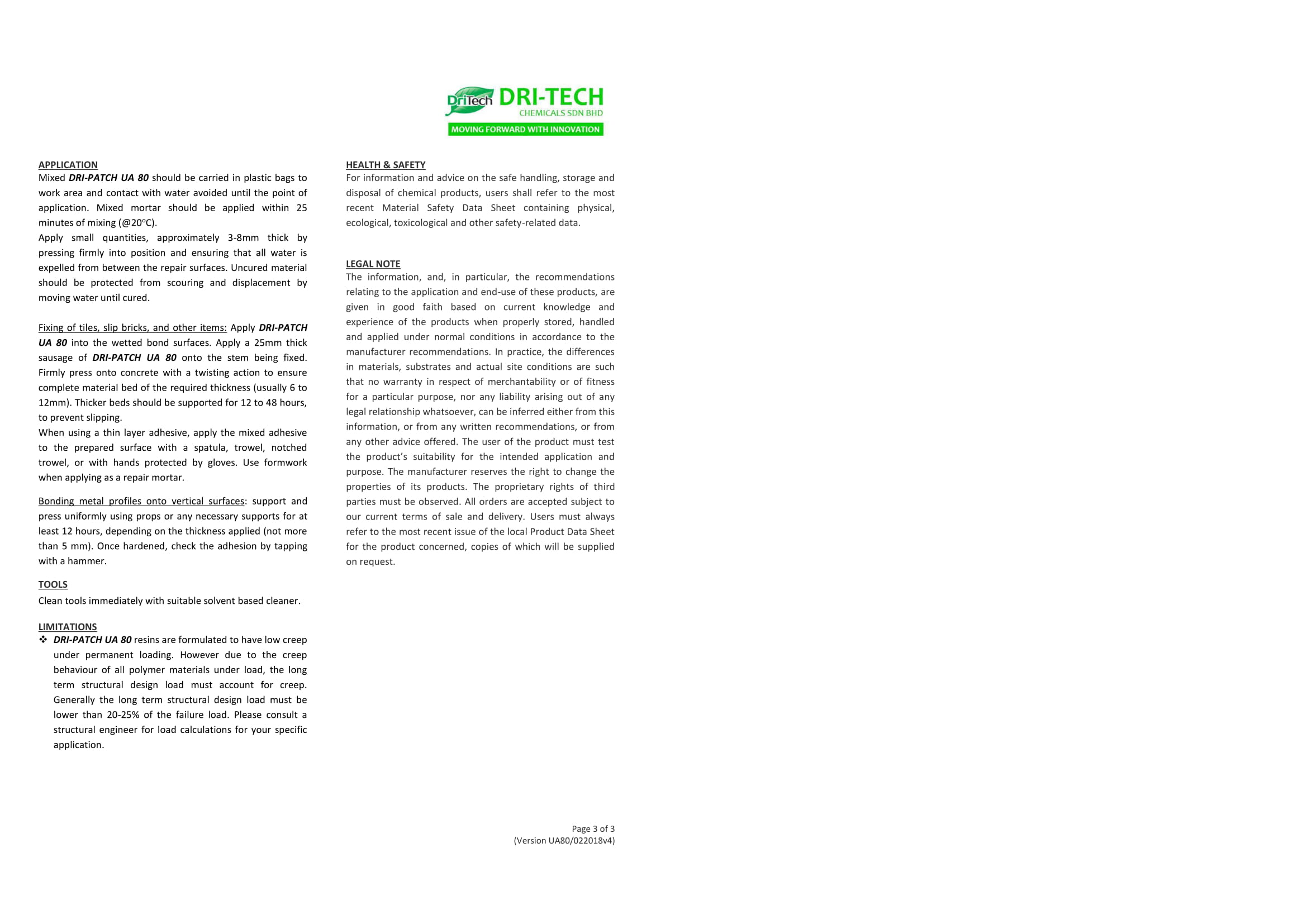 DRI PATCH UA 80 | Underwater Epoxy Concrete Repair Mortar | Builtory Product