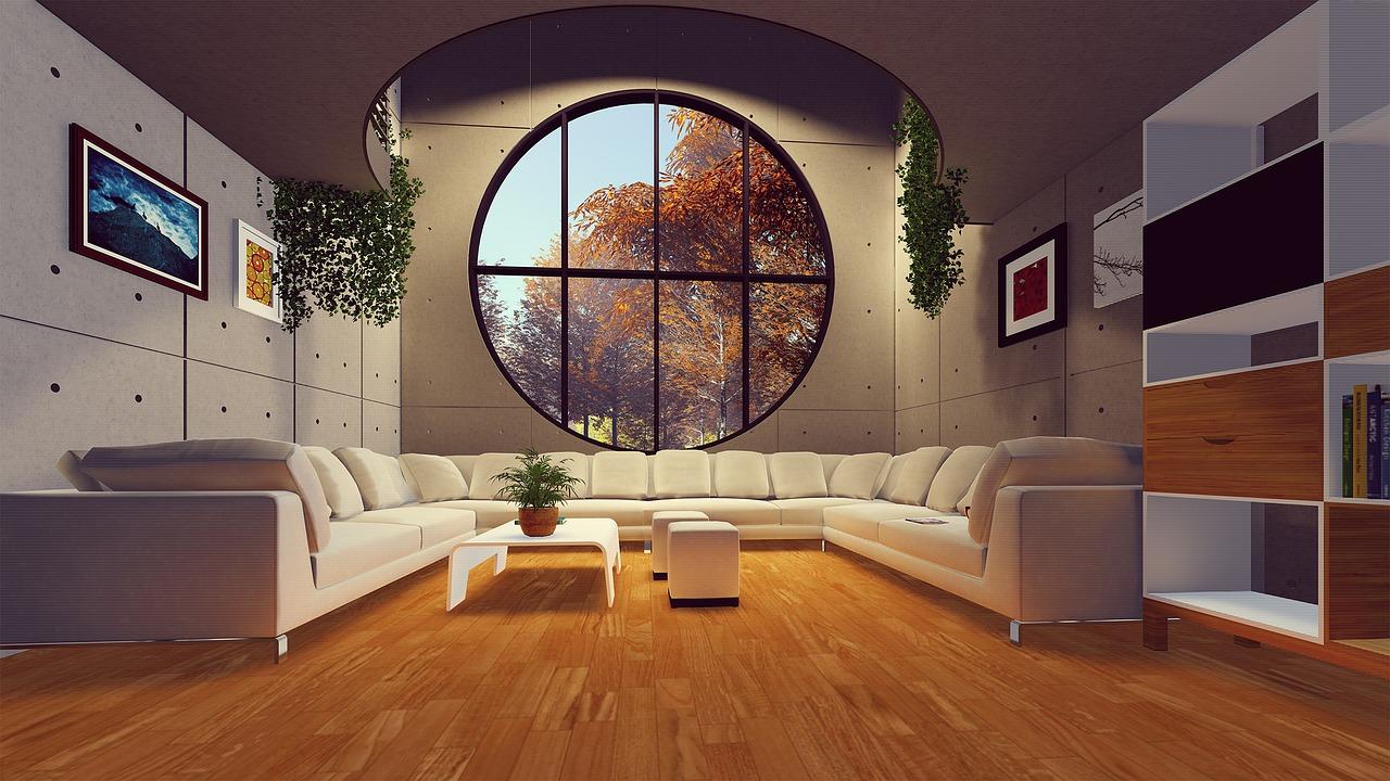 Contemporary-Living-Room-Circular-Large-Window