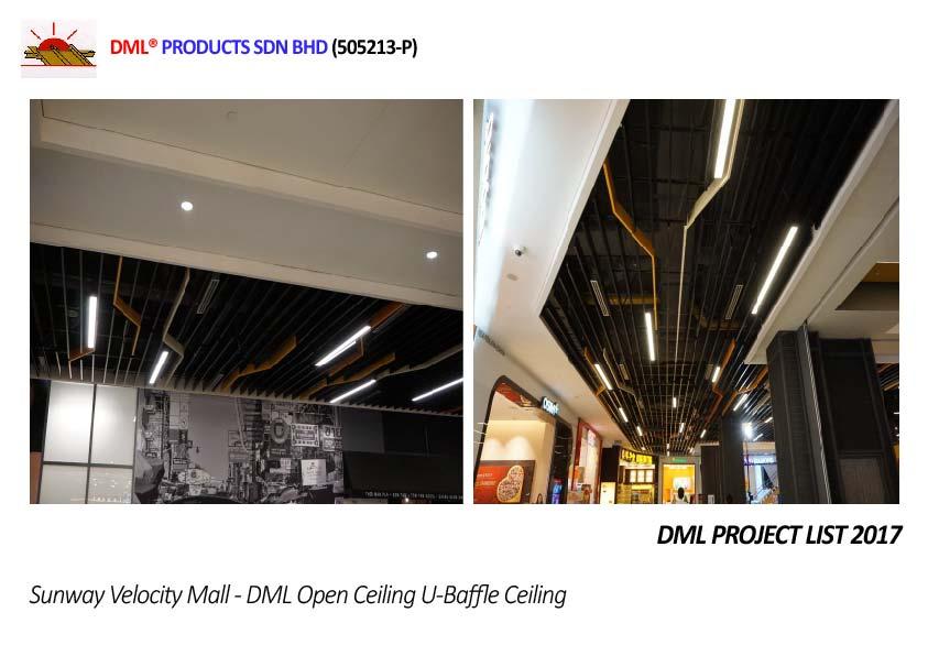 DML Baffle Ceiling | Steel & Aluminium Ceiling