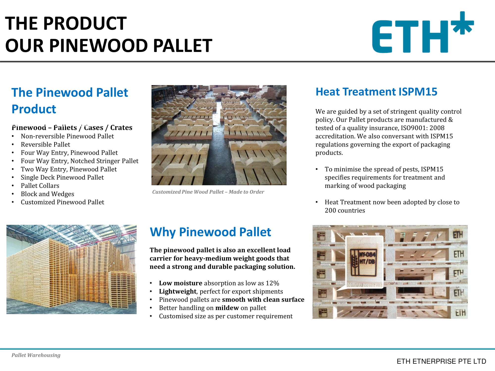 Eth Pine Wood Pallet Industrial Packaging Builtory Product