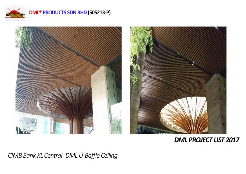 DML U Baffle Ceiling | Steel & Aluminium Ceiling