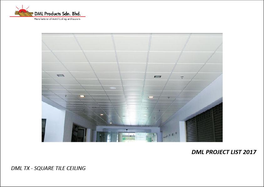 DML TX Square Tile Ceiling | Aluminium Ceiling