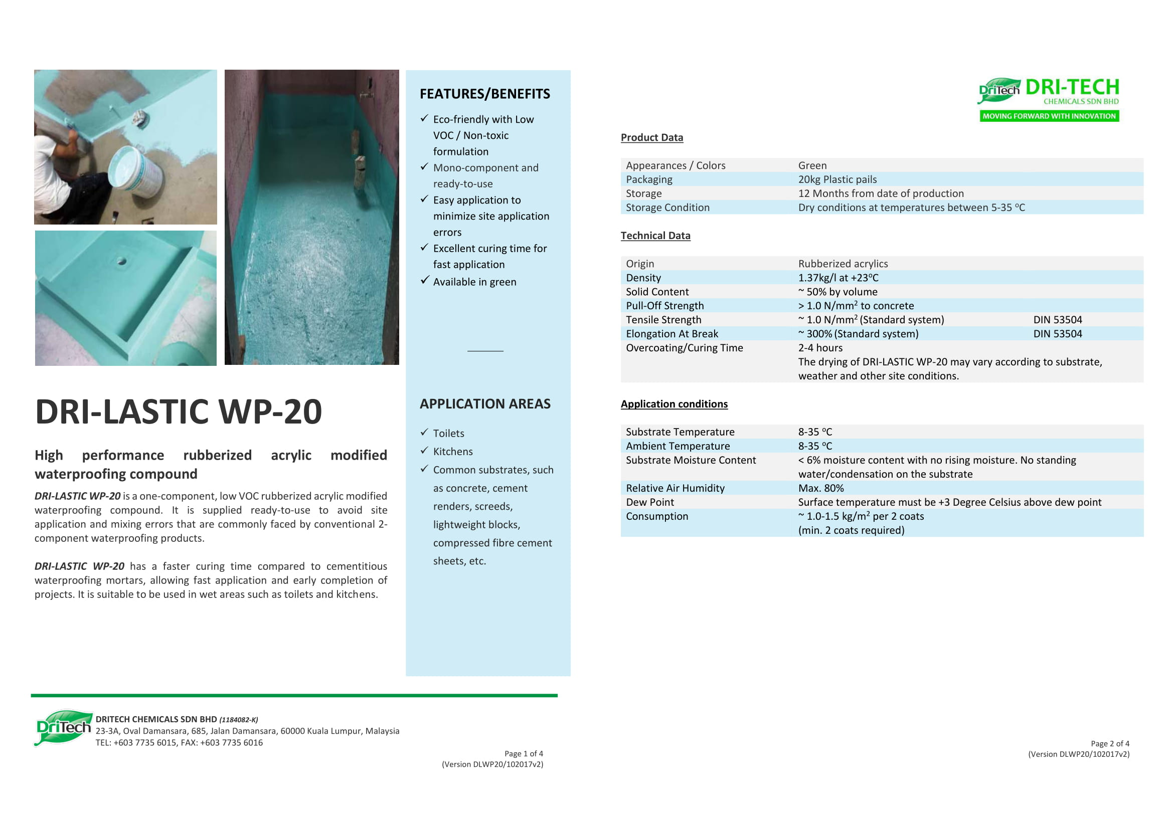 Dritech Waterproofing | Builtory Construction System Malaysia