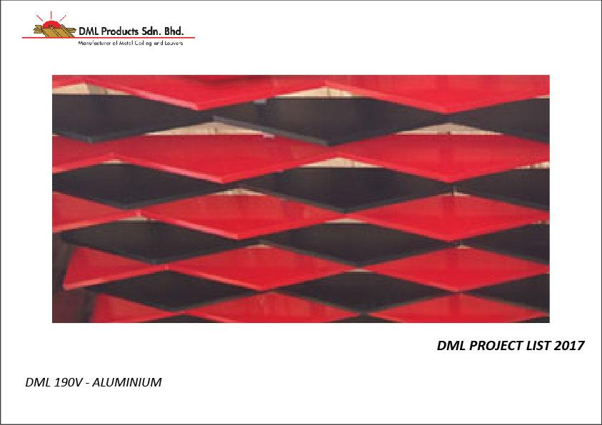 DML Baffle Ceiling 190V   Aluminium Ceiling