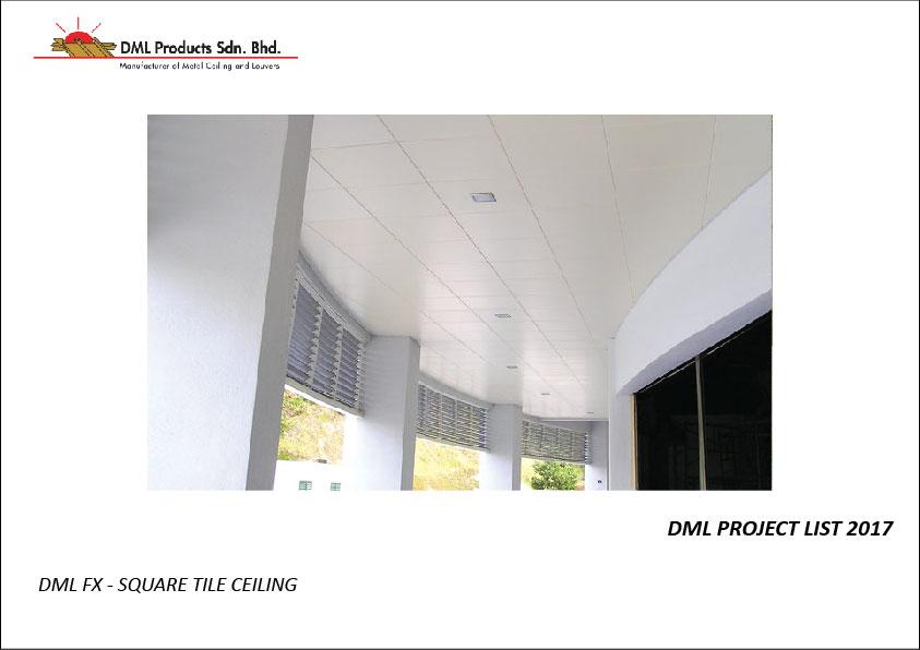 DML FX Square Tile Ceiling | Aluminium Ceiling